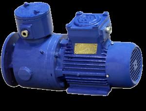 Трехфазные асинхронные взрывобезопасные электродвигатели с электромагнитным тормозом